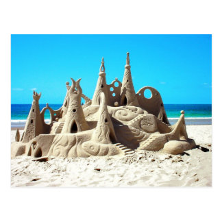 Noosa Strandsandcastle-Postkarte Postkarte