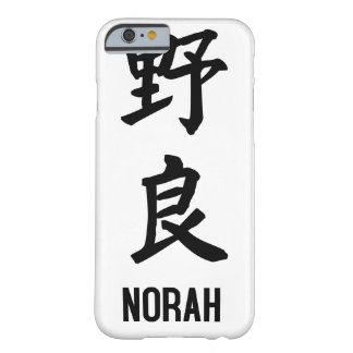 """NORAH"" im Kanji Barely There iPhone 6 Hülle"