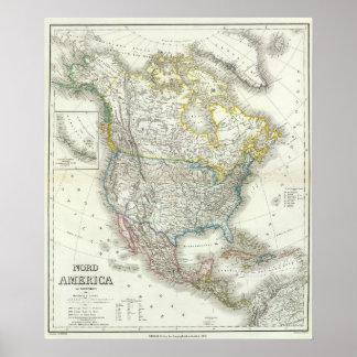 Nord Amerika - Nordamerika Poster