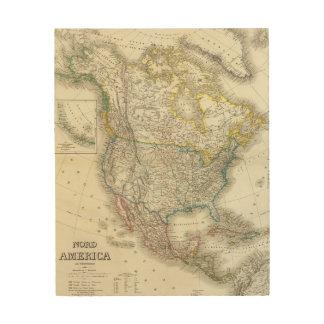 Nord Amerika - Nordamerika Holzleinwand