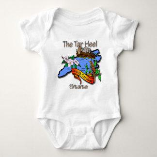 Nord-Carolinablau der Teer-Fersen-Staat BirdFlower Baby Strampler