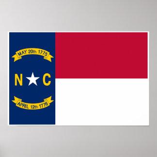 Nord-CarolinaStaats-Flagge Poster