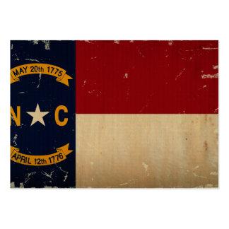Nord-CarolinaStaats-Flagge WEINLESE Jumbo-Visitenkarten