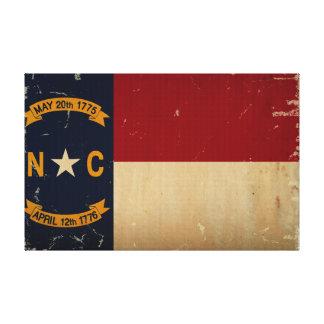 Nord-CarolinaStaats-Flagge WEINLESE Leinwanddrucke