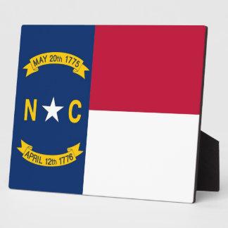 Nord-CarolinaStaats-Flaggen-Plakette Fotoplatte