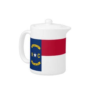 Nord-CarolinaStaats-Flaggen-Teekanne
