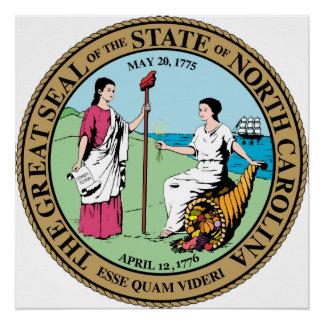 Nord-CarolinaStaats-Siegelamerika-Republiksymbol Poster
