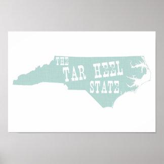 Nord-CarolinaStaats-Spitzname Poster