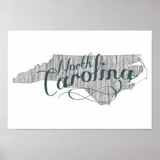 Nord-CarolinaStaats-Typografie Poster