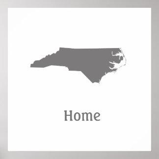 Nord-CarolinaZuhause-Plakat Poster