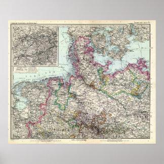 Nord Deutsch Reich-Karte Plakat