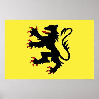 Nord Frankreich-Flagge Posterdrucke