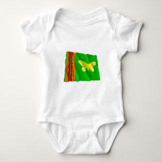 Nord (Oro) Provinz-wellenartig bewegende Flagge Baby Strampler