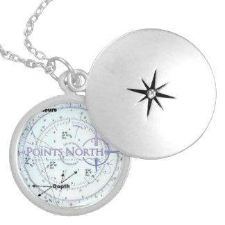 Nord-SF SeekarteLocket der Punkt- Medaillons
