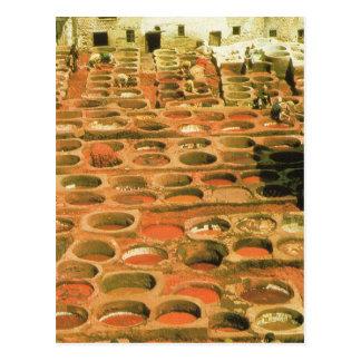 Nordafrika, Gerberei, Marrakesch, Marokko Postkarte