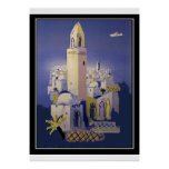 Nordafrika-Reise Vintager Retro Druck Plakatdruck