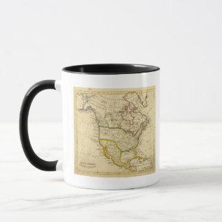 Nordamerika gravierte Karte Tasse