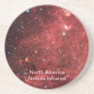 Nordamerika-Nebelfleck-Infrarot Untersetzer