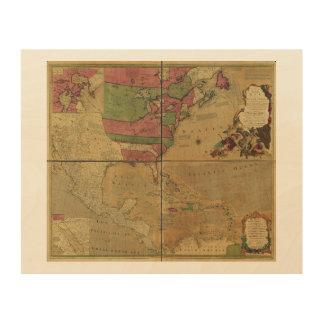 Nordamerikanische Karte durch Emanuel Bowen (1755) Holzdrucke