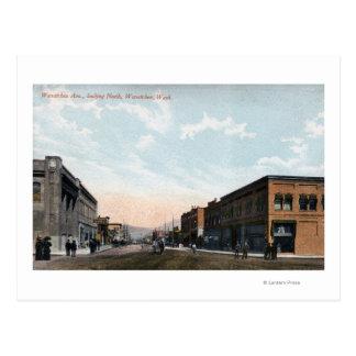 Nordansicht von Wenatchee Allee Postkarte