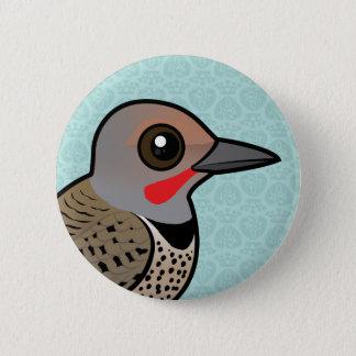 Nordaufflackern (rot-shafted) runder button 5,1 cm