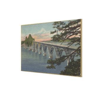 Nordbiegung, Oregon - Gurren-Bucht-Brücken-Ansicht Galerie Faltleinwand