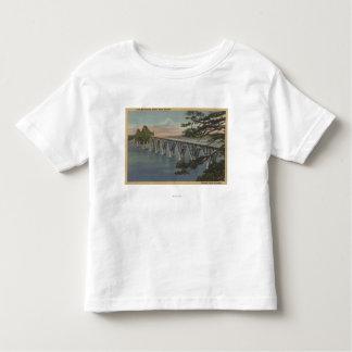 Nordbiegung, Oregon - Gurren-Bucht-Brücken-Ansicht Kleinkinder T-shirt