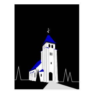 NordBjert Kirche - Nacht Postkarte