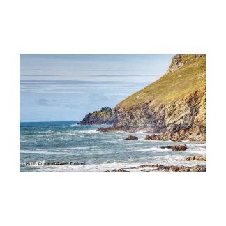 Nordcornwall-Küsten-England-Leinwand-Druck Leinwanddruck