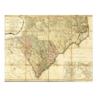 Norden u. South- Carolinakarte (1775) Postkarte