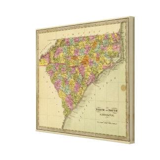 Norden und South Carolina 2 Galerie Gefaltete Leinwand