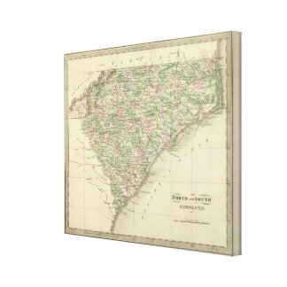Norden und South Carolina 4 Gespannter Galeriedruck