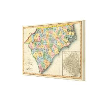 Norden und South Carolina 4 Leinwanddruck