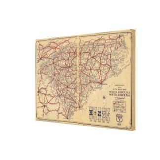 Norden und South Carolina 6 Leinwand Drucke