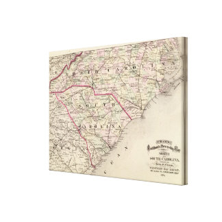 Norden und South Carolina Galerie Falt Leinwand