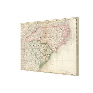 Norden und South Carolina Leinwand Drucke