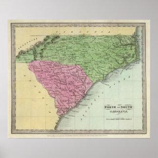 Norden und South Carolina Poster
