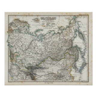 Norden und Zentralasien Plakatdruck