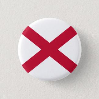 Nordirland-Abzeichen - rotes Saltire auf Weiß Runder Button 3,2 Cm