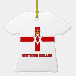Nordirland-Flagge auf Keramik-T-Shirt Anhänger Weinachtsornamente