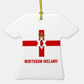 Nordirland-Flagge auf Keramik-T-Shirt Anhänger Keramik T-Shirt-Ornament