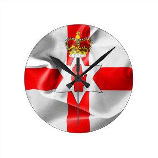 Nordirland-Flagge Runde Wanduhr