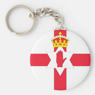 Nordirland-Flagge Standard Runder Schlüsselanhänger