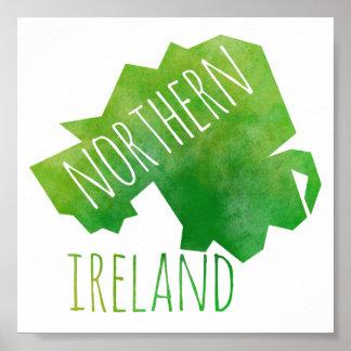 Nordirland-Karte Poster
