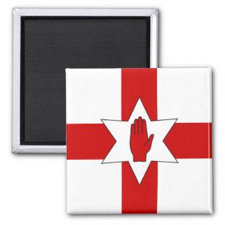 Nordirland-Magnet - Stern u. Hand auf Kreuz Quadratischer Magnet