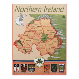 Nordirland Retro Postkarte