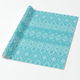 Nordische Muster-Feriengeschenk-Verpackung/Aqua Geschenkpapier