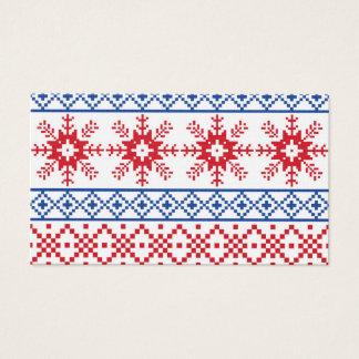 Nordische Weihnachtsschneeflocke-Grenzen Visitenkarte