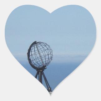 Nordkap Herz-Aufkleber