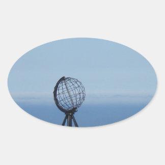 Nordkap Ovaler Aufkleber